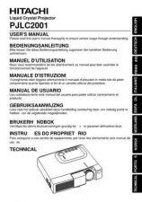 Buy Hitachi PJTX10E_PT Service Manual by download Mauritron #290742