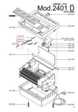Buy Office Equipment IDEAL 2401 D CROSSCUT 2X15 SHREDDER PARTS by download #335484