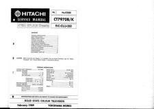 Buy Hitachi CT939-2 Service Manual by download Mauritron #289717