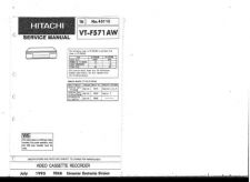 Buy Hitachi VT-FX540E(UK) Service Manual by download Mauritron #287259