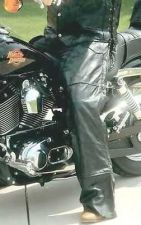 Buy Black Buffalo Leather Motorcycle Riding Chaps Lined Men Women Unisex