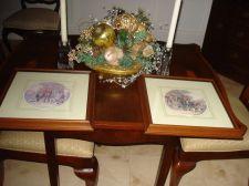 Buy Ethan Allen Horse Hunt Scene Pair of 2 Wood Framed Vintage Figural Art Pictures