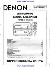 Buy Denon UDM50 Receiver Service Manual by download Mauritron #307042