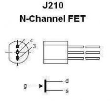 Buy Transistor - J210 N-FET (TO-92) - 13 Pieces