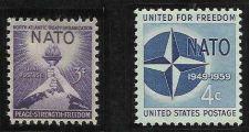 Buy US 3 Cent 1952 Scott #1008 & US 4 Cent 1959 Nato Stamps Scott #1127 MNH 2 stamps
