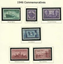 Buy 1946: Commemorative Mint Stamps! WWII ERA Veterans WWII & More - 68 yrs old!