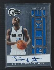 Buy 2010-11 Totally Certified Dominique Jones RC AUTO Jersey SP /599 Mavericks USF