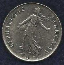 Buy French Coins, Vth Republic, 5 Francs Semeuse , 1991