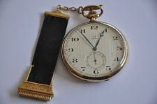 Buy VINTAGE SWISS OMEGA BREVET 14K SOLID GOLD POCKET WATCH