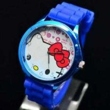 Buy New Silicone HelloKitty Ladies WristWatch Dark Blue #22 Free shipping