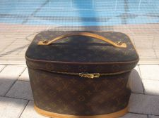 Buy Louis Vuitton Train Case Carry On Luggage $3500 BROWN MONO Travel Bag Beauty Cas
