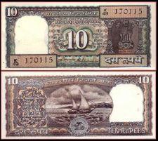 "Buy REPUBLIC INDIA ~ 10 RUPEE BLACK BROWN ""K"" PREFIX ~ BANK NOTE ~ S VENKATARAMANA"