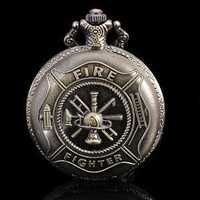 Buy New fashion bronze fire fighter tool pocket watch chain #386 Free shipping