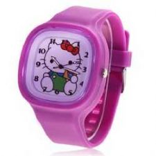 Buy New helloKitty Silicone band watch #HK32 Free shipping
