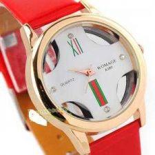 Buy Elegant Lady Fashion Quartz Unique Watch White Rubber Band #245 Free shipping