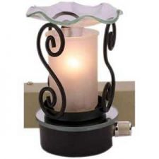 "Buy 5"" Beautiful Frosted Design Oil Warmer"