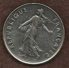 Buy French Coins, Vth Republic, 5 Francs Semeuse , 1987 - Seed Sower