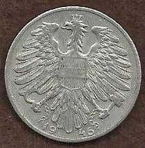Buy Austria 1946 - 1 Schilling Coin -Austrian Eagle with hammer & sickle - WWII Era