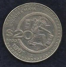 Buy Mexico $ 20 Pesos 1981 Coin, Cultura Maya Commemorative Mexican Coin