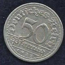 Buy 1922 GERMANY 50 PFENNIG - Weimar Republic Coin