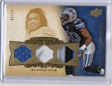 Buy 2008 Upper Deck Premier Rare Materials Ernie Sims 3 Color Patch Card #D/15