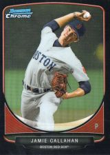 Buy 2013 Bowman Chrome Jamie Callahan Black Refractor #D/99 Boston Red Sox Rookie