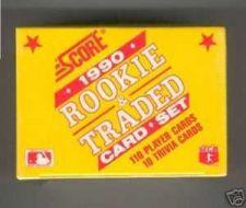 Buy 1990 Score Rookie & Traded Baseball Card Set Frank Thomas Rookie Card