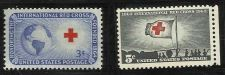 Buy US 3 Cent 1952 Red Cross Stamp & 5 Cent 1963 Red Cross Centennial -2 Stamps MNH