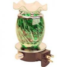 Buy Electric Green Oil Warmer Mirror Base