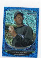 Buy 2013 Bowman Chrome Jayson Aquino Mini Blue Wave #D/250 Colorado Rockies