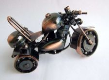 Buy HANDMADE REAL METAL MOTORCYCLE TOY MODEL SCRAP METAL CAR PARTS ART DECORATION
