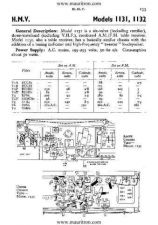Buy HMV 1132 VINTAGE WIRELESS SERVICE SHEETS by download Mauritron #328555