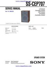 Buy Sony SS-CEP707 Manual by download Mauritron #319254