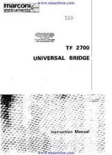 Buy Marconi TF2700 Universal Bridge by download Mauritron #330820