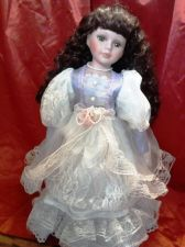 Buy Doll with beautiful Victorian dress on stand - 15 inches High
