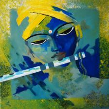 Buy Krishna Painting - Acrylic on canvas