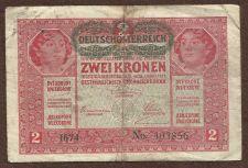 Buy Austria Hungary 2 KRONEN KORONA 1917 BANKNOTE 403856