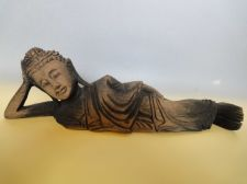 Buy Thai declining wooden handicraft home decoration collectible Buddha antique colo