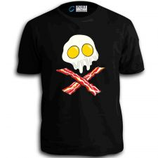 Buy Egg Skull Bacon Crossbones Funny Humor Time T-Shirt MMA UFC Cool Retro Tee Top D59++