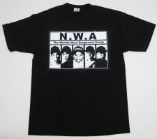 Buy N.W.A. T-shirt Hip Hop Rap NWA Ice Cube Dr Dre Eazy E DJ Yella MC Ren Tee S-XL D59++