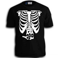 Buy Beer Belly Xray Skeleton Funny Comedy Bottles Adlut T-Shirt Black tee w D59