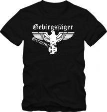 Buy Bundeswehr T-Shirt Wehrmacht Gebirgsjäger T- Shirt bis 5 XL Funshirt D59