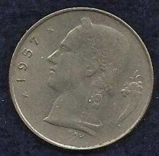 Buy 1957 Belgium 1 Franc Coin Belgique Crown Cornucopia