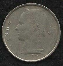 Buy 1964 Belgium 1 Franc Coin Belgique Crown Cornucopia