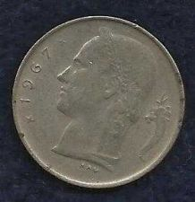 Buy 1967 Belgium 1 Franc Coin Belgique Crown Cornucopia