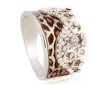 Buy fashion18K RGP white gold plated size 9 ring