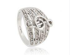Buy Women music shaped 18K RGP size 9 ring