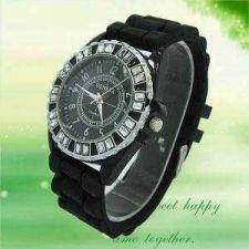 Buy NEW Fashion Crystal Silicone Unisex Wrist Watch #298 Free shipping