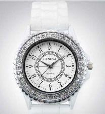 Buy NEW Fashion Crystal Silicone Unisex Wrist Watch #304 Free shipping