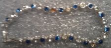 Buy BRACELET BLUE AND CLEAR STONES